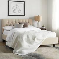 Skyline Furniture Diamond Tufted Platform Bed in Velvet