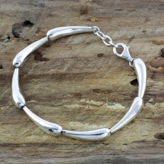 Handcrafted Sterling Silver 'Forever Taxco' Bracelet (Mexico)