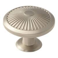 Crawford 1-3/4 in. (44mm) Diameter Knob - Satin Nickel - Silver