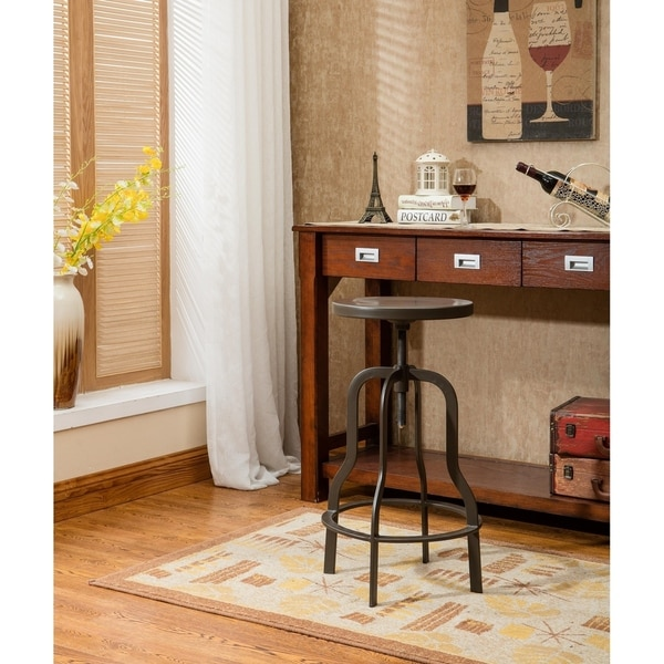Small Dining Room 14 Ways To Make It Work Double Duty: Shop Hodedah Retro And Industrial Gun Metal Top Stool