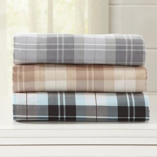 Home Fashion Designs Hanley Collection Double Brushed Microfiber Plaid Sheet Set