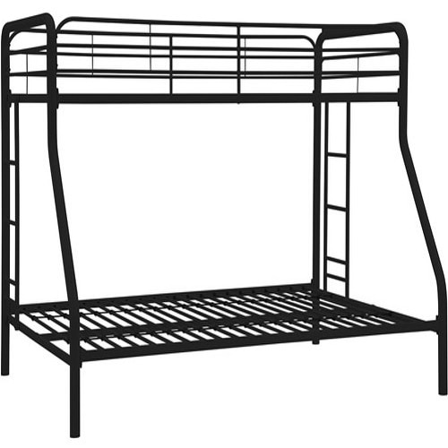 Shop Hodedah Black Twin Over Full Size Metal Bunk Bed Free