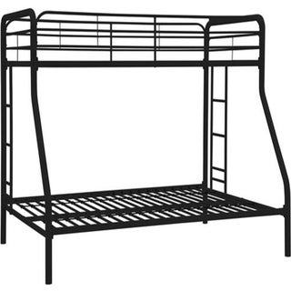 Shop Hodedah Black Twin Over Full Size Metal Bunk Bed
