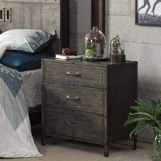 Ink and Ivy Benicia Grey Wood Accent Chest