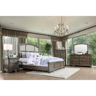 Furniture of America Fenemi Rustic 4-piece Wire-Brushed Grey Bedroom Set