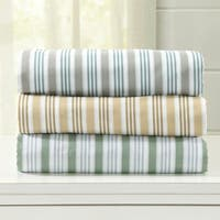 Home Fashion Designs Hanley Collection Double Brushed Microfiber Stripe Sheet Set