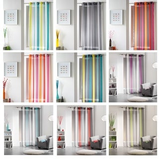 Evideco Striped Sheer Curtain Panel Riviera - 55 x 95