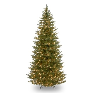 7.5 ft. Noble Fir Slim Tree with Clear Lights