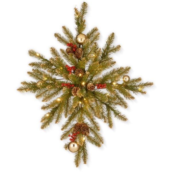 "32"" Glittery Gold Dunhill® Fir Bethlehem Star with Battery Operated LED Lights"