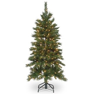4.5 ft. Tiffany Fir Slim Tree with Clear Lights