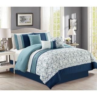 Lucas embrodiery 7 piece comforter set