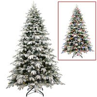 7.5 ft. Snowy Avalanche Tree with Dual Color LED Lights