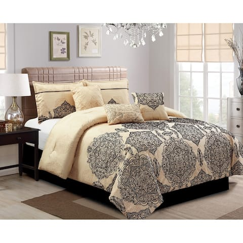 Aria embrodiery 7 piece comforter set