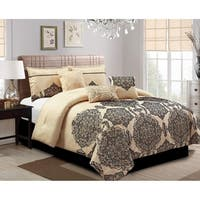 Aria embrodiery 7 piece comforter set