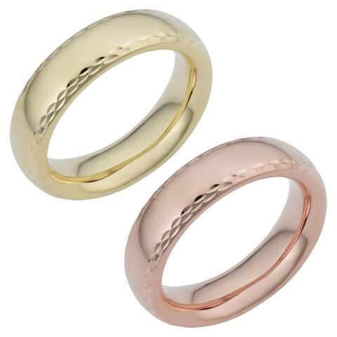 Fremada 14k Gold 6-mm Milgrain Comfort Fit Wedding Band Ring