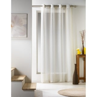 Evideco Woven Sheer Curtain Panel Zahia - 55 x 95