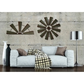 Rustic Farmhouse Windmill Wall Décor - Antiqued Finish