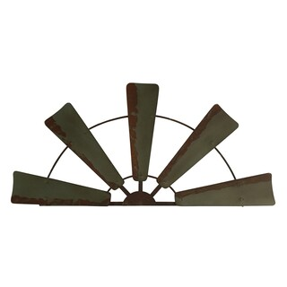 Rustic Farmhouse Windmill Wall Décor - Antiqued Finish (2 options available)