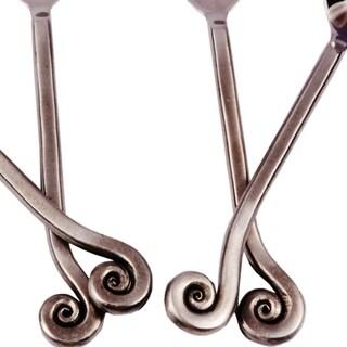 Inox Lilly Design 4-piece Satin Polished Coffee/Dessert Spoon Set