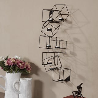 Danya B. Metal Interlocking Cubes Wall Tea Light Holder