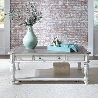 Magnolia Manor Antique White Castered Rectangular Cocktail Table