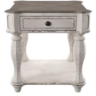 Magnolia Manor Antique White End Table
