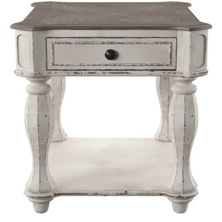 Delicieux Magnolia Manor Antique White End Table