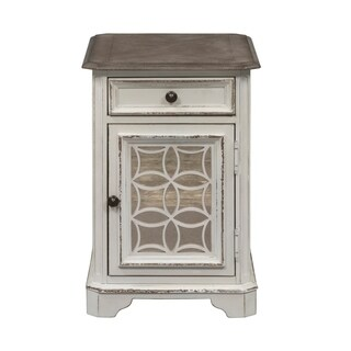Merveilleux Magnolia Manor Antique White Chair Side Table