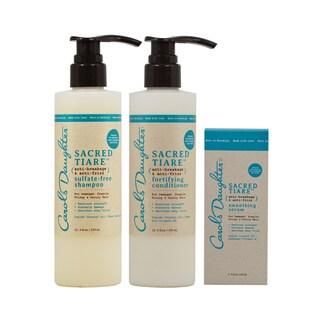 Carol's Daughter Sacred Tiare Shampoo, Fortifying Conditioner & Smoothing Serum Set
