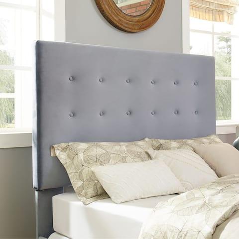 Crosley Furniture Reston Square Shale Microfiber Upholstered King/Cal King Headboard