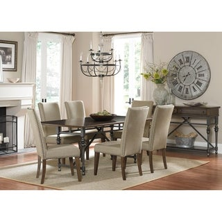 Ivy Park Weathered Honey and Silver Pewter 42x76 Dinette Table - Brown