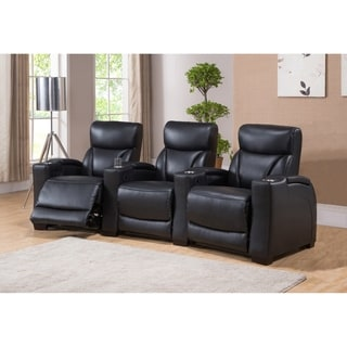 Hydeline by Amax Columbia Top Grain Leather Home Theather Recliner