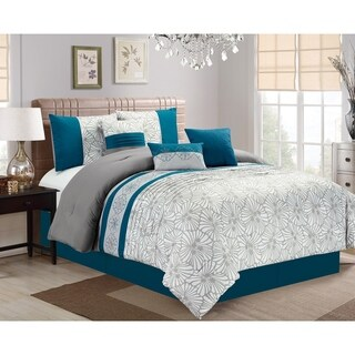 Aiden embroidery 7 piece comforter set