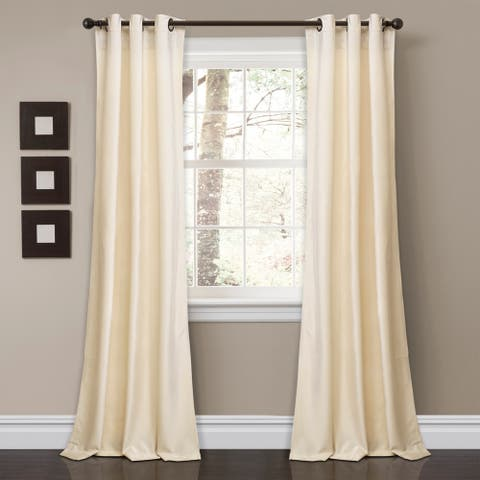 Porch & Den Lapeyrous Velvet Solid Room Darkening Window Curtain Panel Set