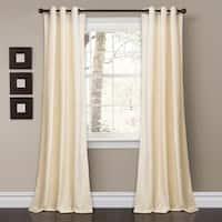 """Porch & Den Lapeyrous Velvet Solid Room Darkening Window Curtain Panel Set - 38""""w x 84""""l"""