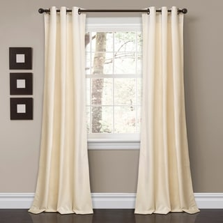 "Porch & Den Lapeyrous Velvet Solid Room Darkening Window Curtain Panel Set in Slate Blue - 38""w x 95""l - (As Is Item)"
