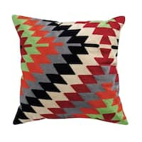 Zoey Embroidered Cotton Throw Pillow
