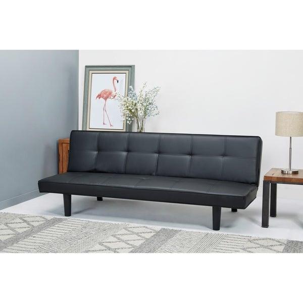 Shop Hudson Black Convertible Sofa Bed - Free Shipping Today ...