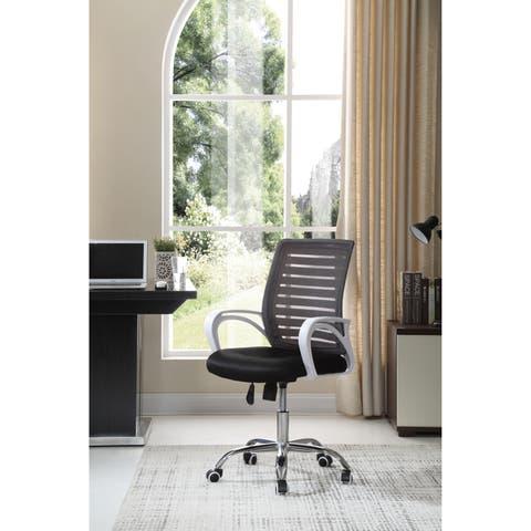 Hodedah Mesh Back Office Chair in Black