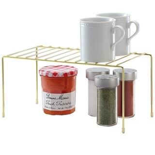 Better Houseware Small Storage Shelf Plated, Brass