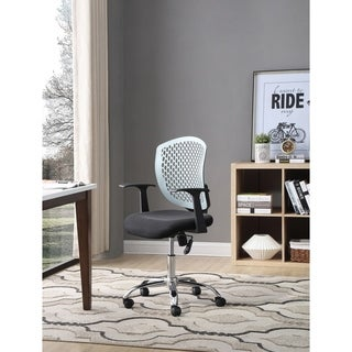 Hodedah Sheath Back Office Chair in Black