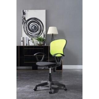 Hodedah Mesh Back Office Chair in Green