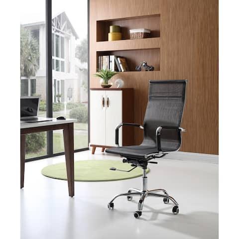 Hodedah Mid Back Mesh Office Chair in Black