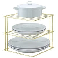 Better Houseware Corner Storage Rack Plated, Brass