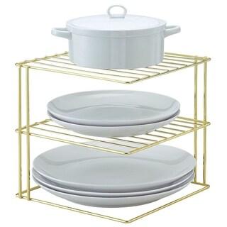 Better Houseware Corner Storage Rack Plated, Brass