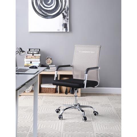 Hodedah Mid Back Mesh Swivel Office Chair in Black