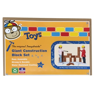 Smart Monkey Toys Giant Construction Block Set, 24 Pieces