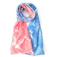 Watermarbling Hand Dyed Peace Silk Scarf
