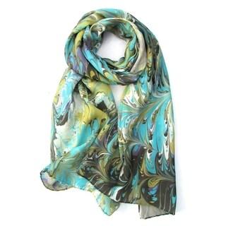Watermarbling Hand Dyed Reef Silk Scarf|https://ak1.ostkcdn.com/images/products/17403991/P23641676.jpg?_ostk_perf_=percv&impolicy=medium