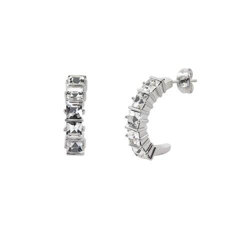 Eternally Haute Hoop Earrings with Swarovski Crystals